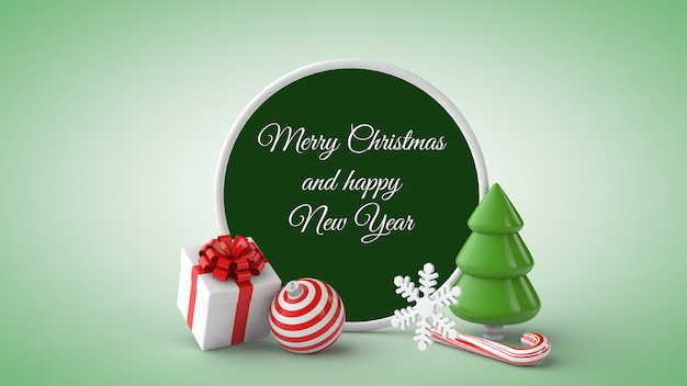 3d 그림에서 크리스마스 카드 모형