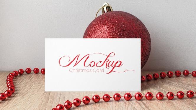 クリスマスカードのモックアップ