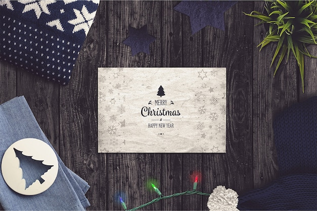 Рождественский макет