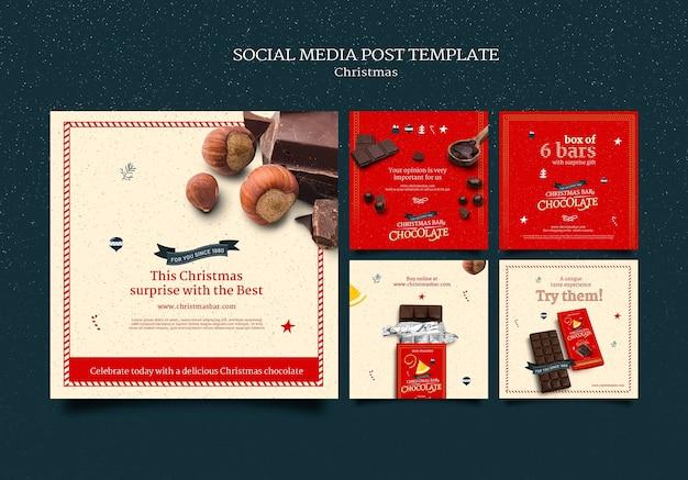 Рождественский шоколадный набор постов instagram