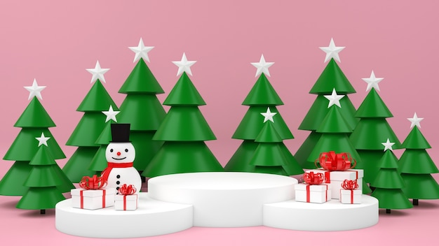 Christmas commercial mockup with giftboxes