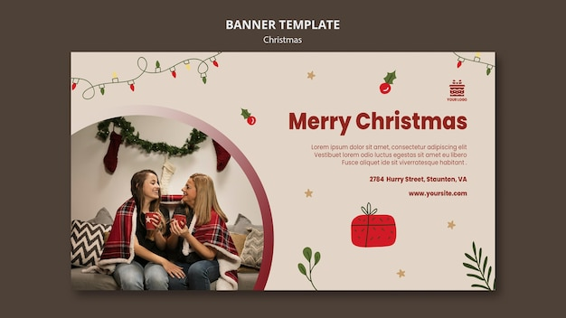 Christmas concept banner template