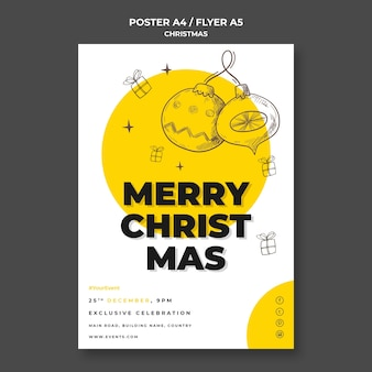 Christmas concept flyer template