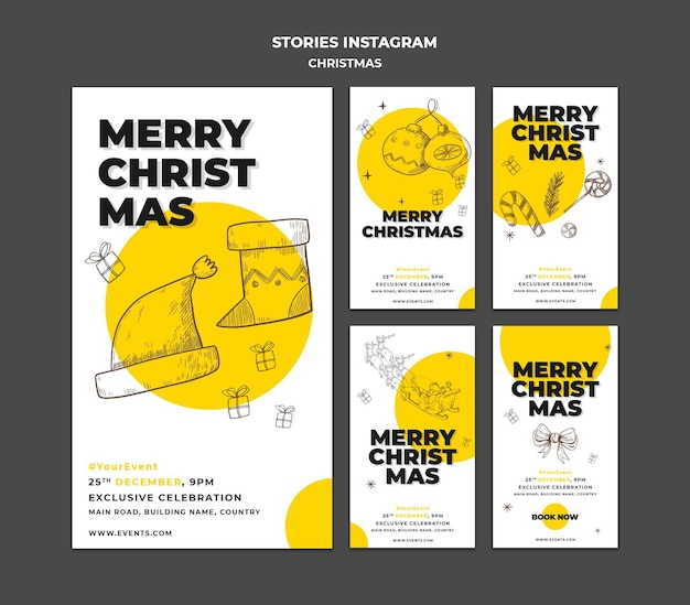 Christmas concept instagram stories template