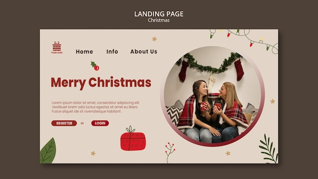 Christmas concept landing page template