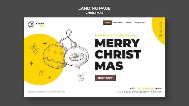 Шаблон целевой страницы рождественской концепции