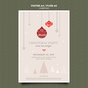 Christmas concept poster template