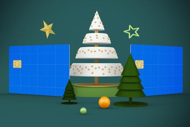 Рождественский макет кредитной карты