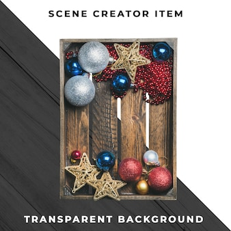 Коробка украшения рождества изолированная с путем клиппирования.