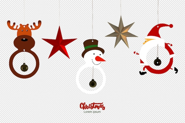 Christmas decorative in 3d rendered isolated