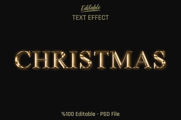 Рождественский редактируемый текстовый эффект