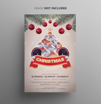 Christmas flyer party template