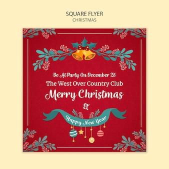 Рождественский флаер шаблон дизайна