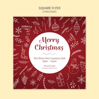 Рождественский флаер шаблон темы