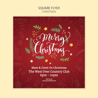 Christmas flyer template theme