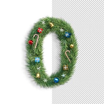 Рождественский шрифт, номер 0