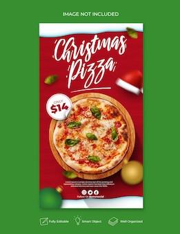クリスマスフードメニューソーシャルメディアとinstagramの投稿テンプレート