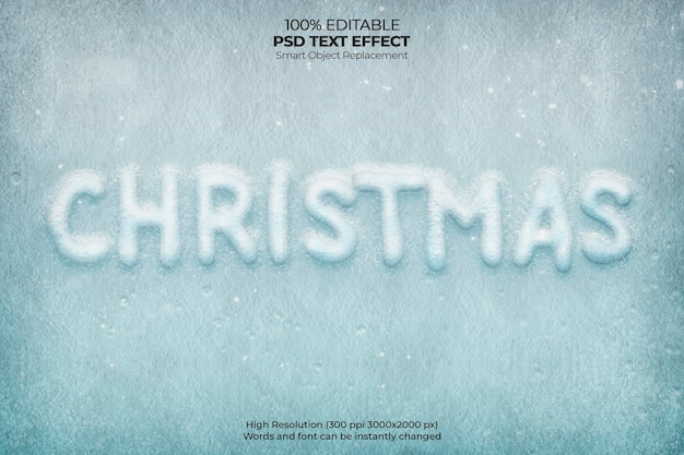 Christmas frost text effect