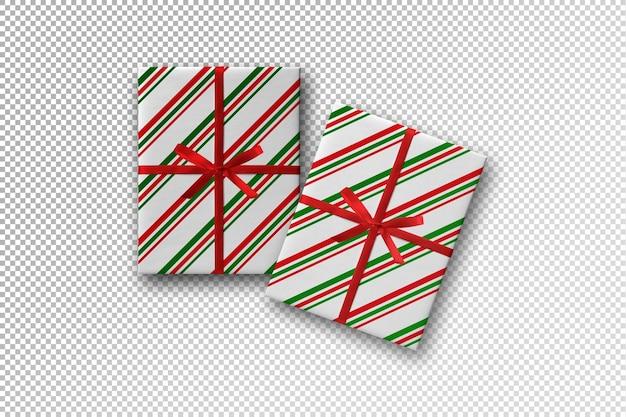 빨간 리본 이랑 크리스마스 선물 상자