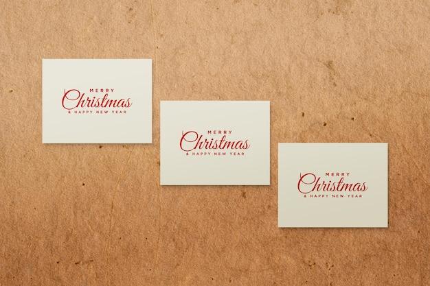 Christmas greeting card mockup