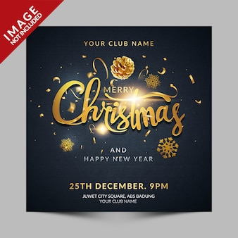 Christmas greeting flyer for social media
