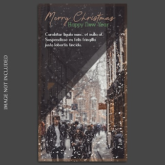 Christmas and happy new year 2019 photo mockup and instagram story template for social media