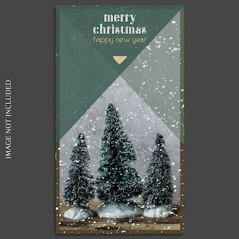 Christmas and happy new year 2019 photo mockup and instagram story template