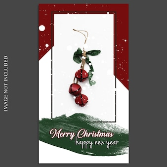 Christmas and happy new year 2019 photo mockup and instagram story
