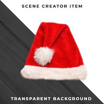클리핑 패스와 함께 고립 된 크리스마스 모자입니다.