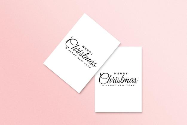 Christmas holiday greeting card design mockup