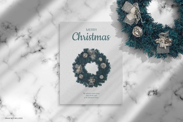 크리스마스 휴일 인사말 디자인 모형 디자인 렌더링