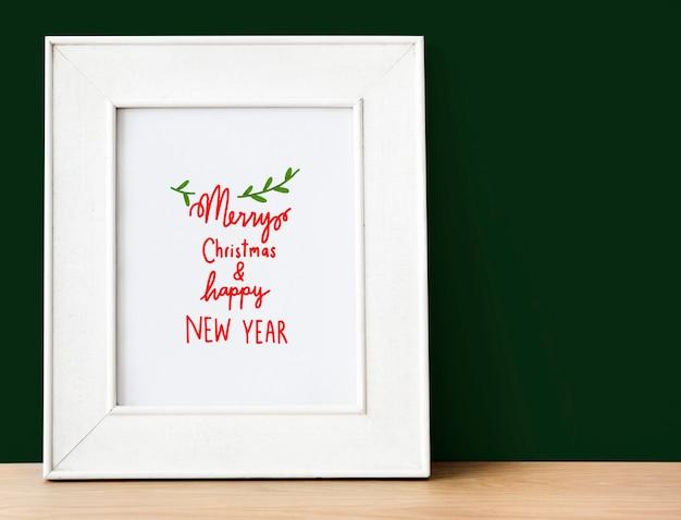 Рождественский праздник поздравительный макет дизайна