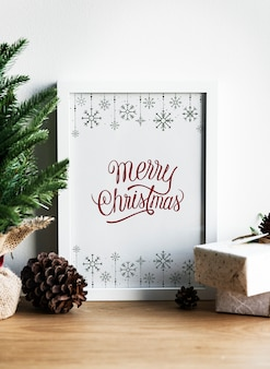 Christmas holiday greeting design mockup