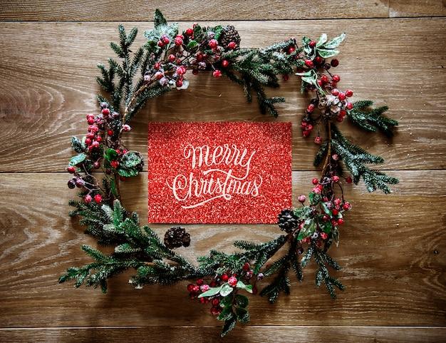 Christmas holiday greeting design mockup