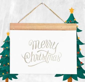 Рождественский праздник приветствие дизайн макет