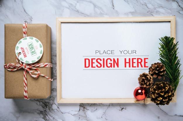 Рождественский праздник приветствие дизайн рамы