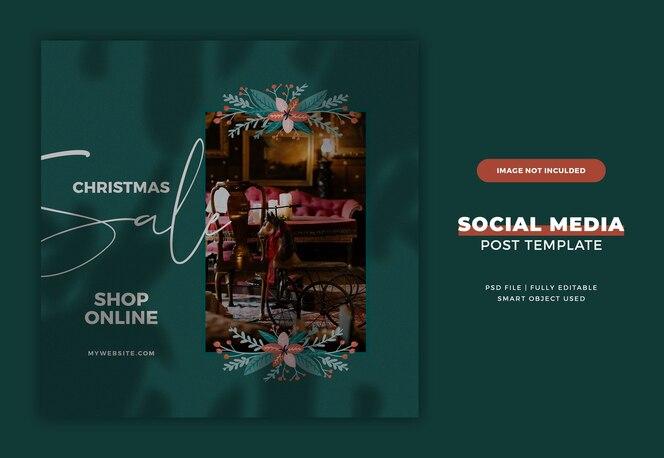 크리스마스 Instagram 엽서 또는 배너 서식 파일