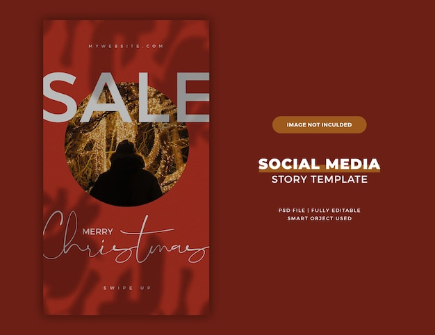 Christmas instagram story card or banner template