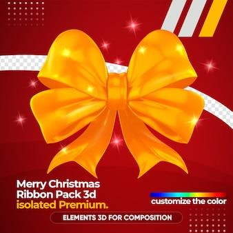 Рождественский логотип в 3d-рендеринге