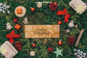 Christmas mockup with banner