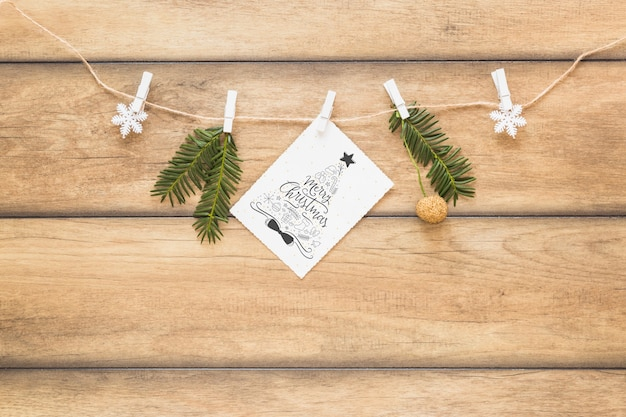Christmas mockup with cover or letter