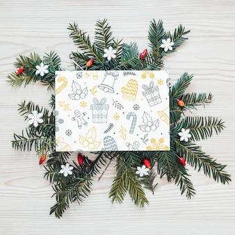 Рождественский макет с обложкой или письмом