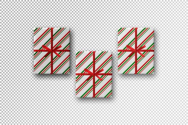 Christmas mockup with present box