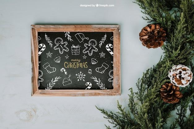 Christmas mockup with slate