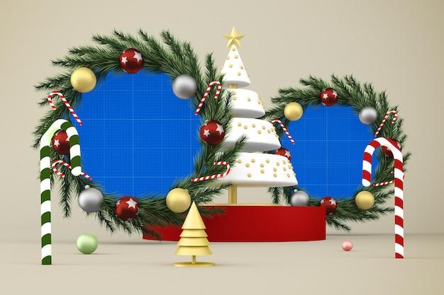 クリスマスのモックアップ