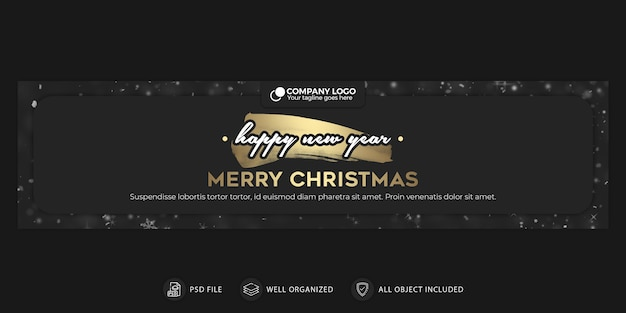 Christmas and new year banner or cover template