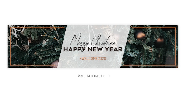 Christmas and new year banner template