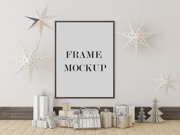 Christmas or new year frame mockup for your design