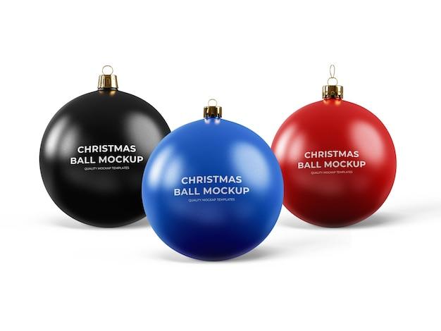 Christmas ornament balls mockup template
