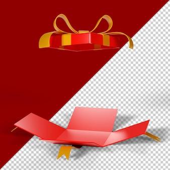 クリスマスの装飾品は3dレンダリングを分離しました